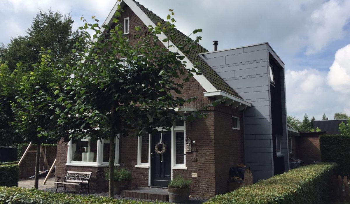 Moderne aanbouw dakkapel