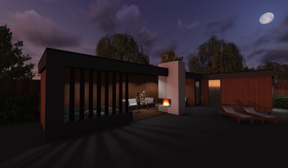 Modern bijgebouw